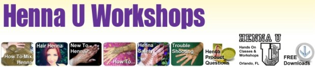 Henna Classes learn at Workshops Orlando