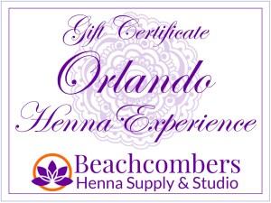 Orlando Henna Gift Certificate