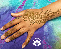 Sangeet strip henna design