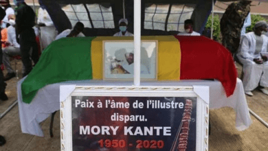 Photo of MUSIC STAR MORY KANTÉ LAID TO REST IN GUINEA