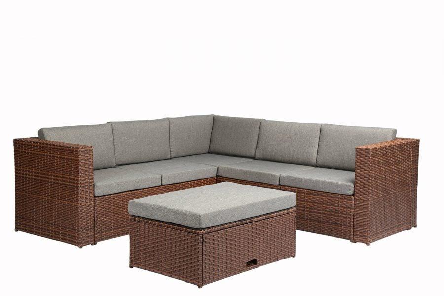 Baner Garden 4-PC Corner Sectional Wicker Sofa