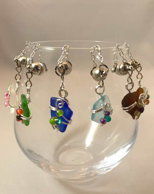 Wine Charms sets, silver plated