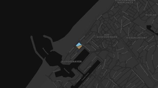 De locatie van het Beach House Scheveningen
