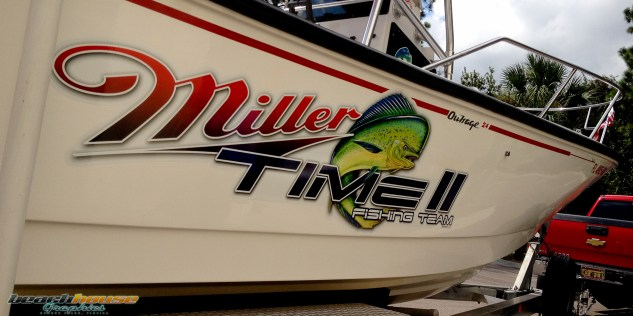 Boat Graphics, Vinyl Lettering, Sticker, Fishing Boat