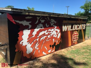 Dugout wraps for Bethune Cookman