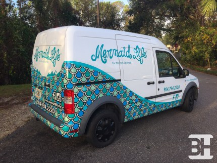 Partial Delivery Van Wrap with Company Graphics