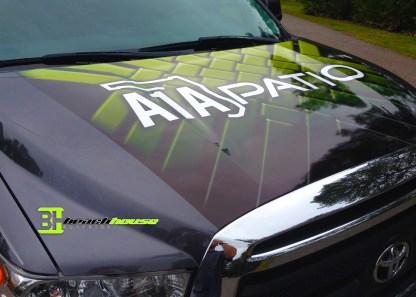 Vehicle Wrap Hood of Truck