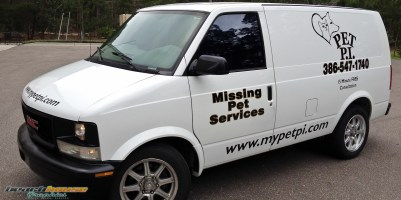 Full size van lettering, decals, graphics