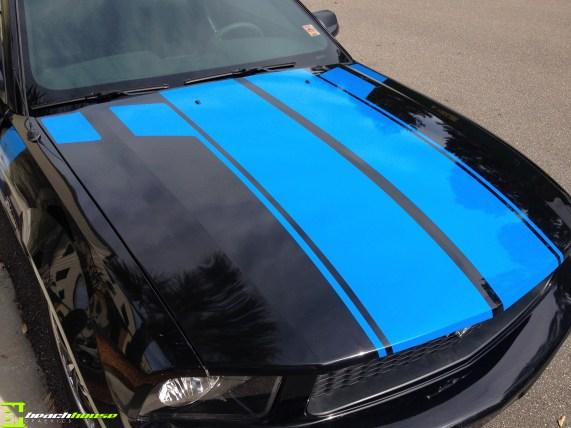 Blue Vinyl Striping