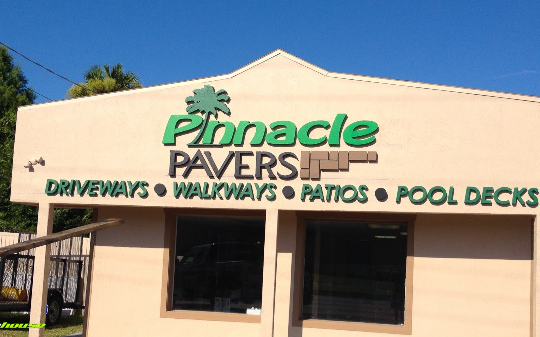 Pinnacle Pavers : Storefront Signage