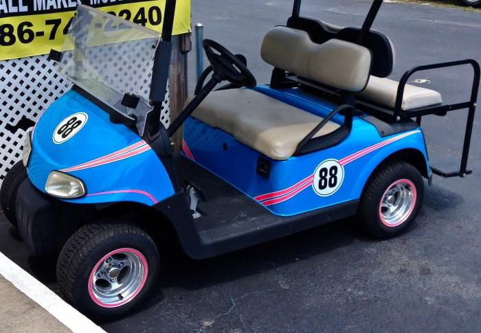 Mustang Race Car – Matching Golf Cart