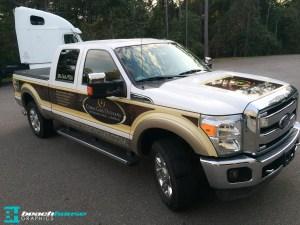 Wood Grain Vehicle Wrap
