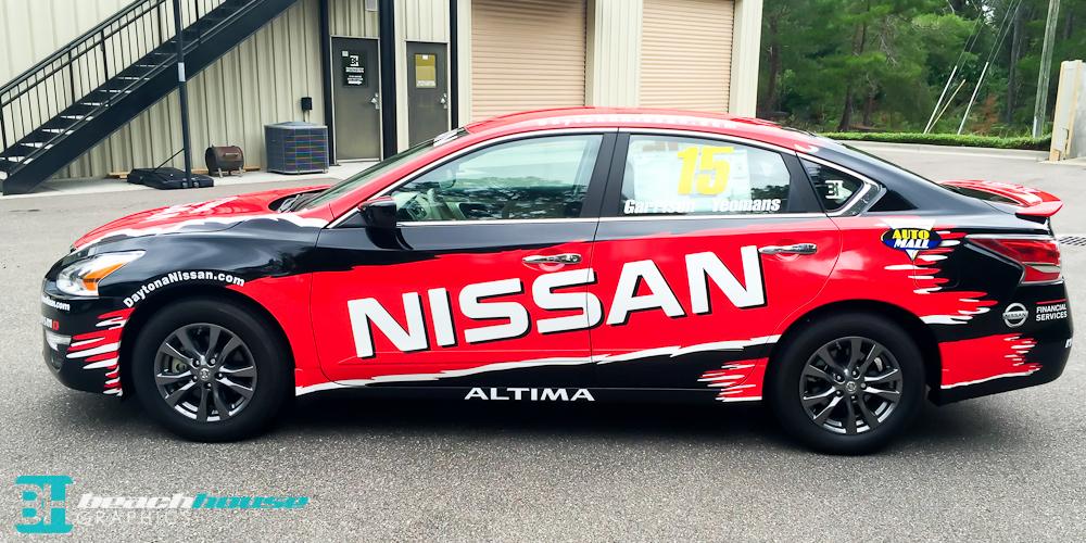 Nissan Dealership Partial  Wrap