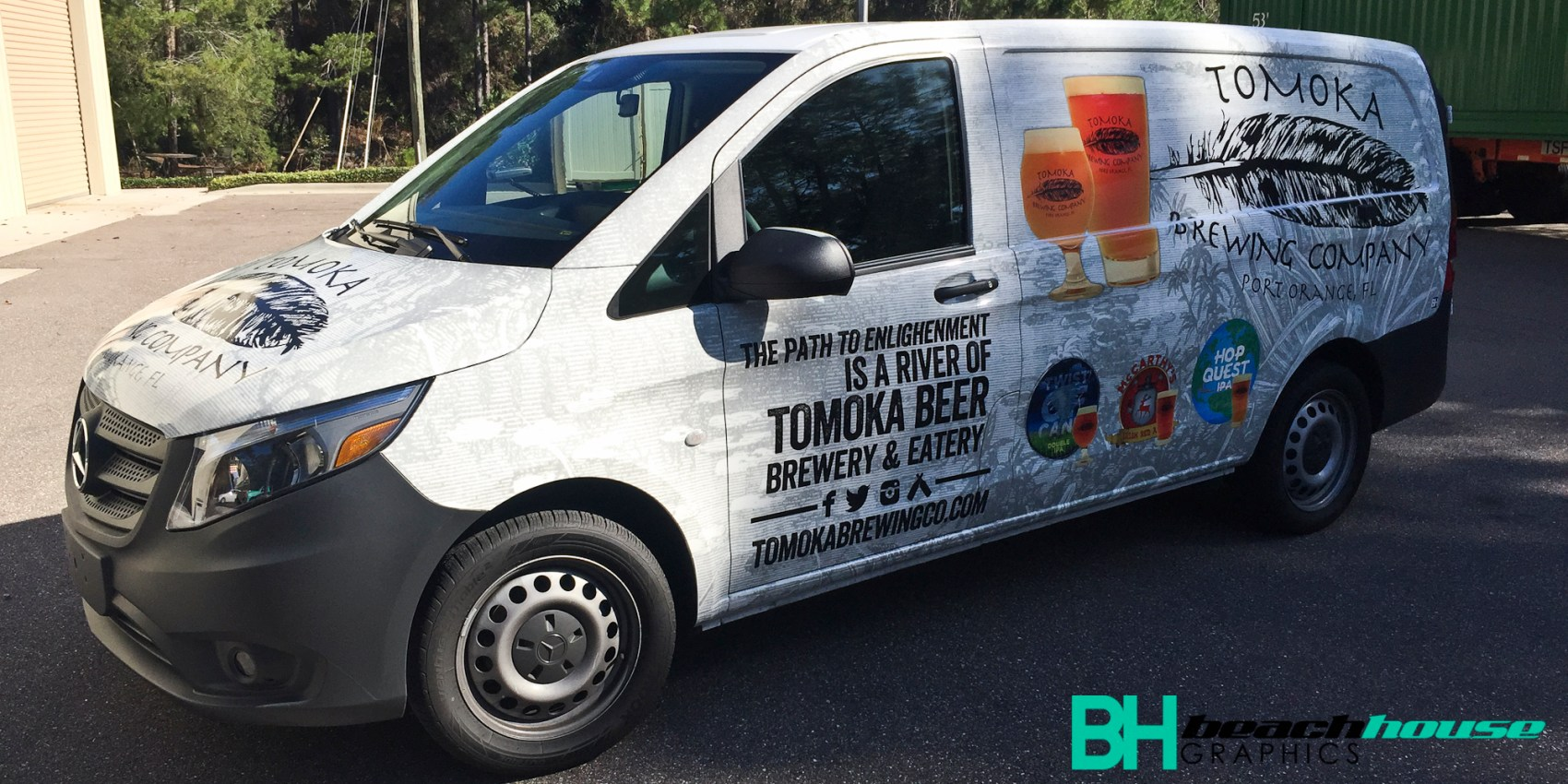 Van Wrap for Tomoka Brewing in Port Orange FL