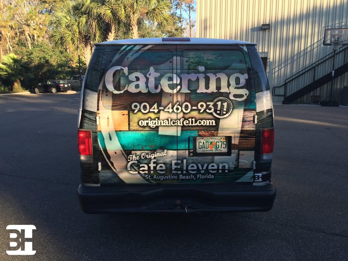 Van wrap in St Augustine Florida for Restuarant