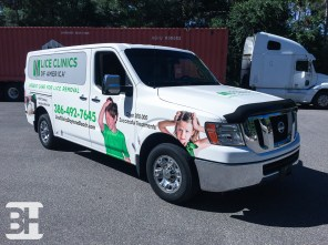 Full Nissan Van Color Change Wrap