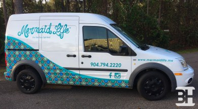 Vehicle Wraps and Graphics for a Ford Transit Delivery Truck