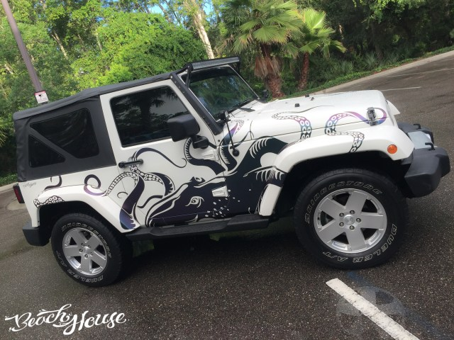 Color change vinyl octopus jeep graphics decal daytona color change vinyl octopus jeep graphics decal orlando