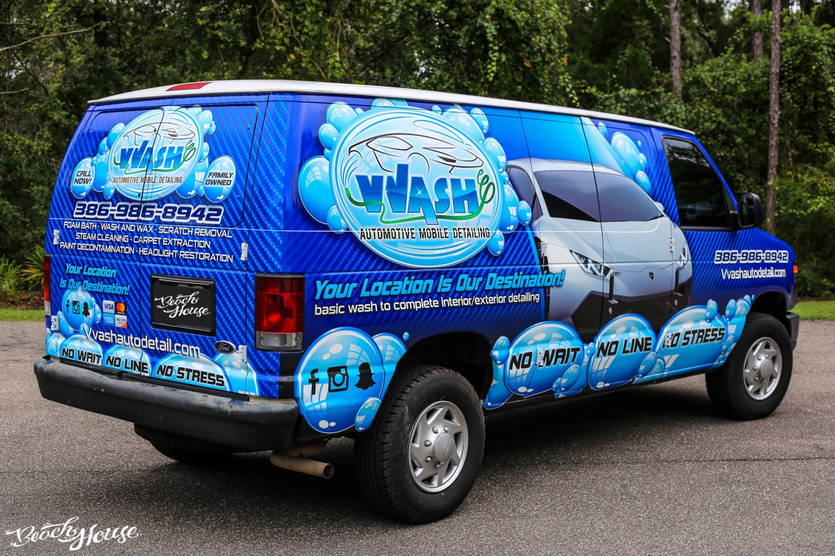 Van Wrap in Daytona Beach with Avery