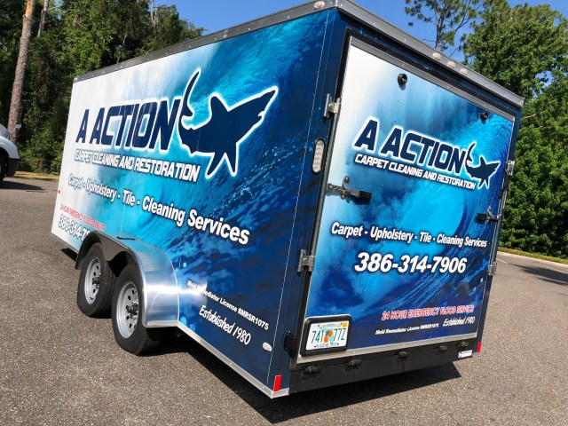 Trailer Wrap with ocean graphics