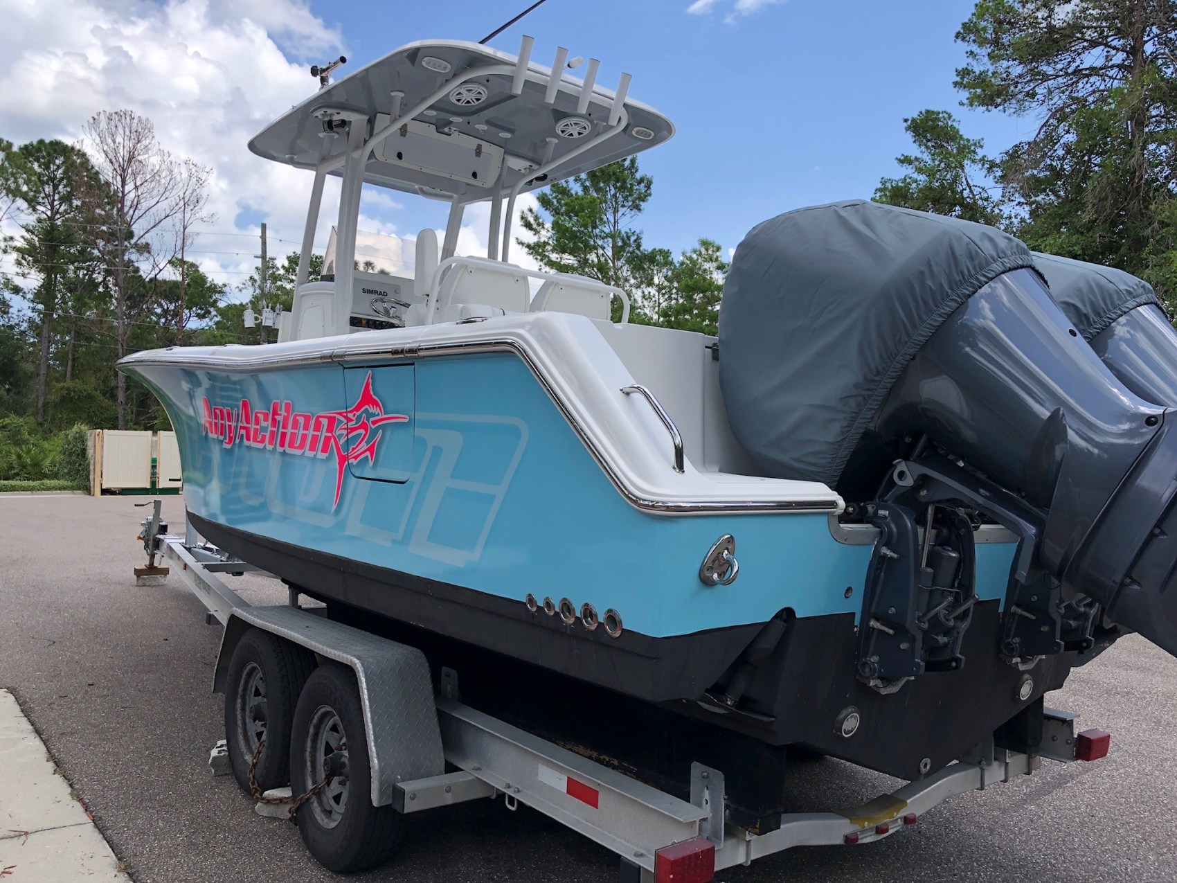 Color Change boat wrap Ormond Beach