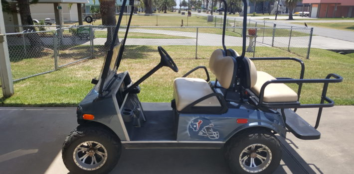 Side view of Our Golf Cart for Rent