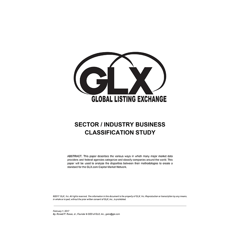 GLX Sector Industry Business Classification Study