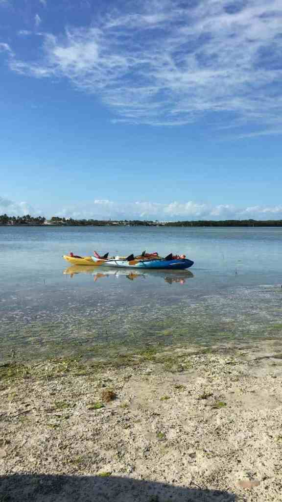 Kayaking to a private island - relaxing things to do in key largo florida