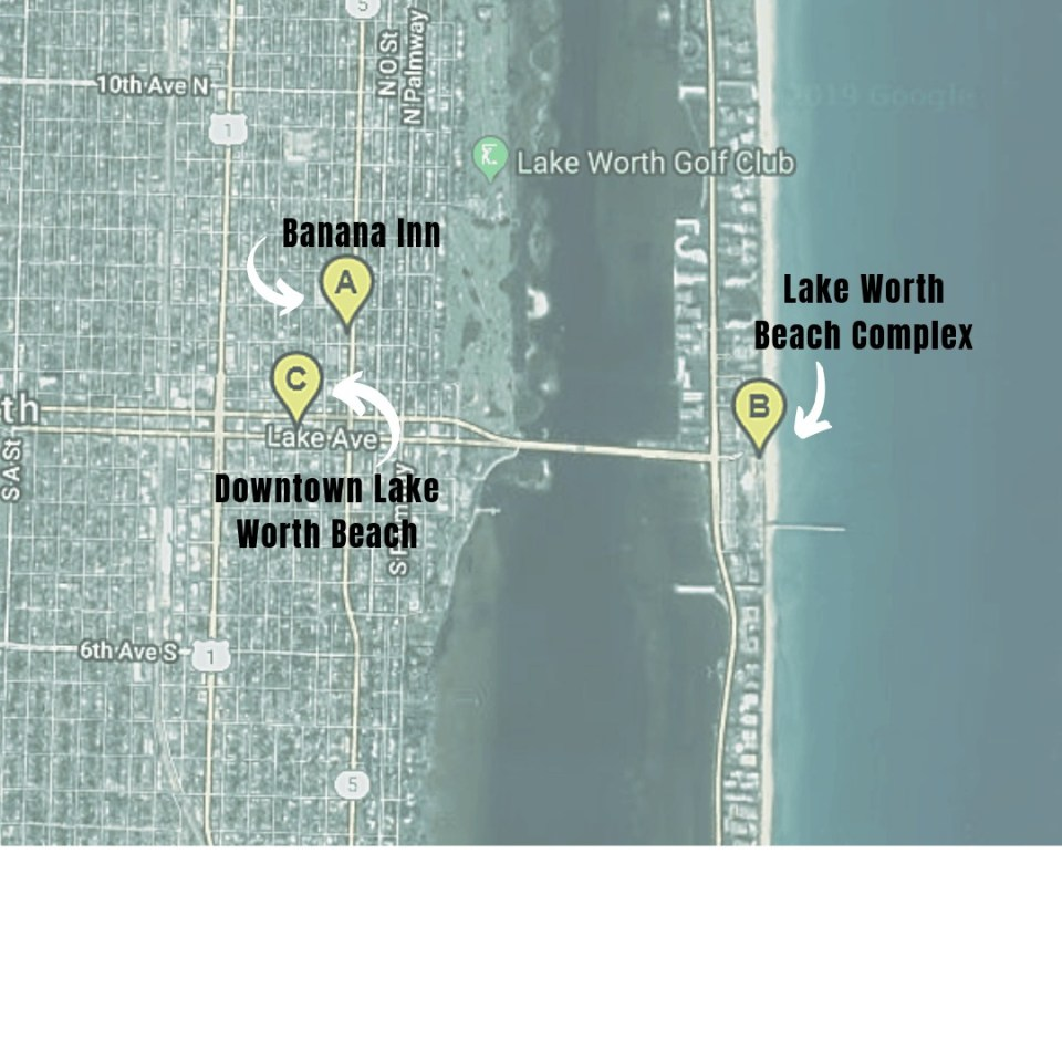 Air Bnb Vacation Rental Lake Worth Beach Florida - The Banana Inn