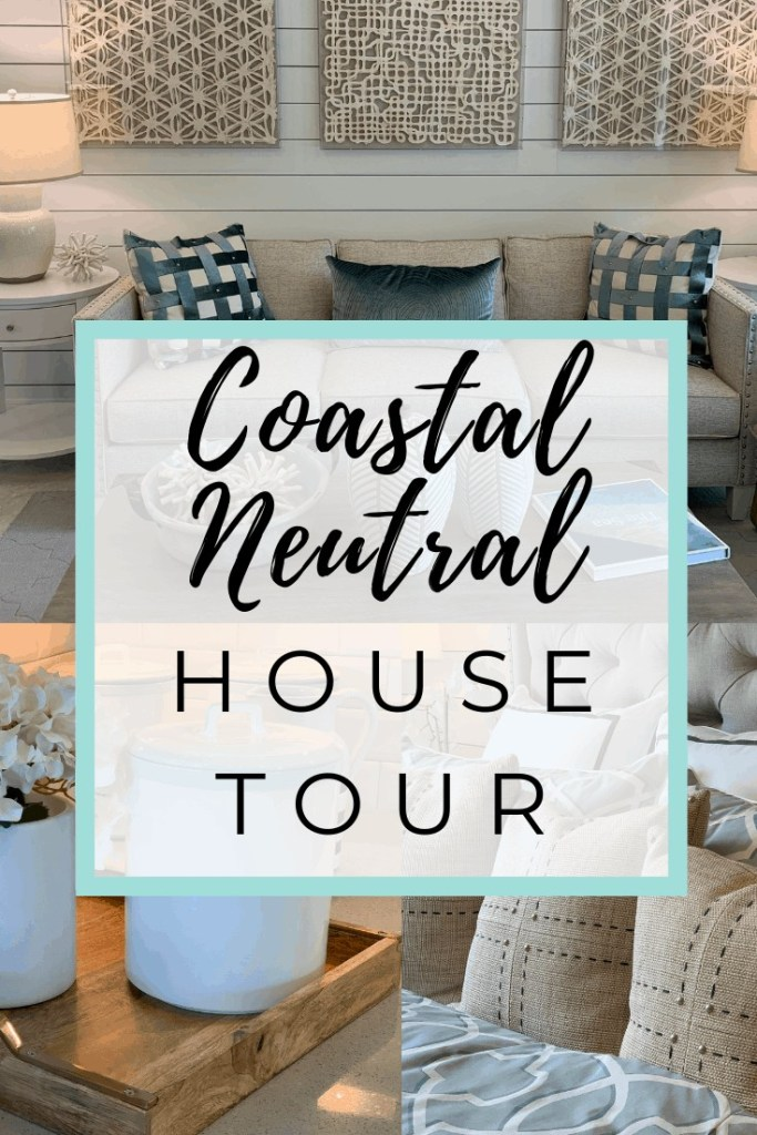 Coastal Neutral Subtle Blues - Beach House Tour