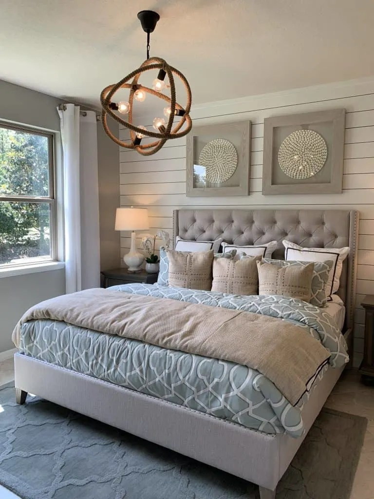 Coastal Neutral Design Ponte Vedra Florida Master Bedroom