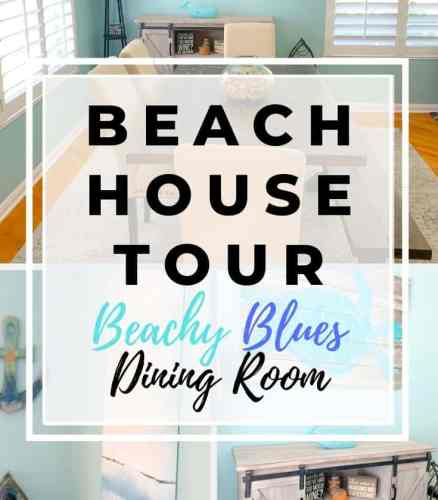 Beach House Tour Beachy Blues Dining Room