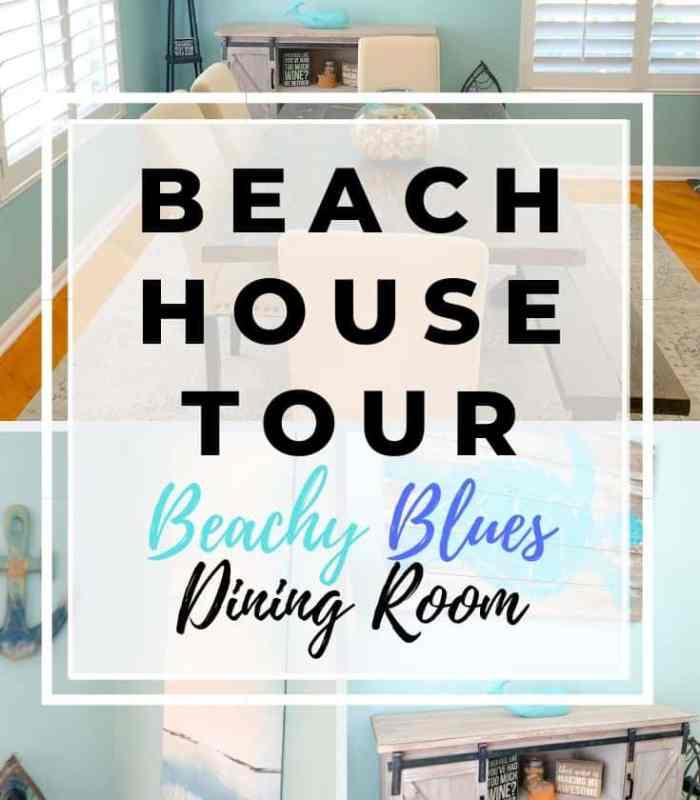 Beach House Tour Beachy Blues Dining Room