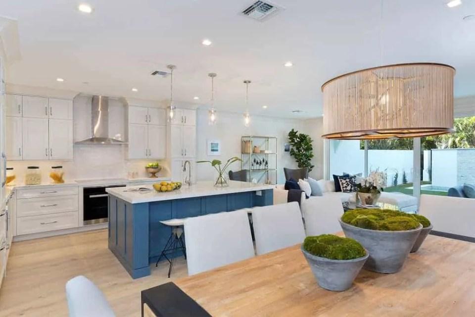 Island Contemporary - Beach House Tour - Beach House Coastal Decor Ideas - Air Bnb in Delray Beach Florida - Kitchen