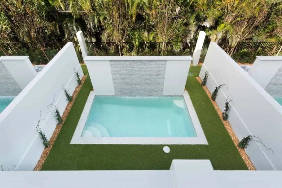 Island Contemporary - Beach House Tour - Beach House Coastal Decor Ideas - Air Bnb in Delray Beach Florida - Pool Area