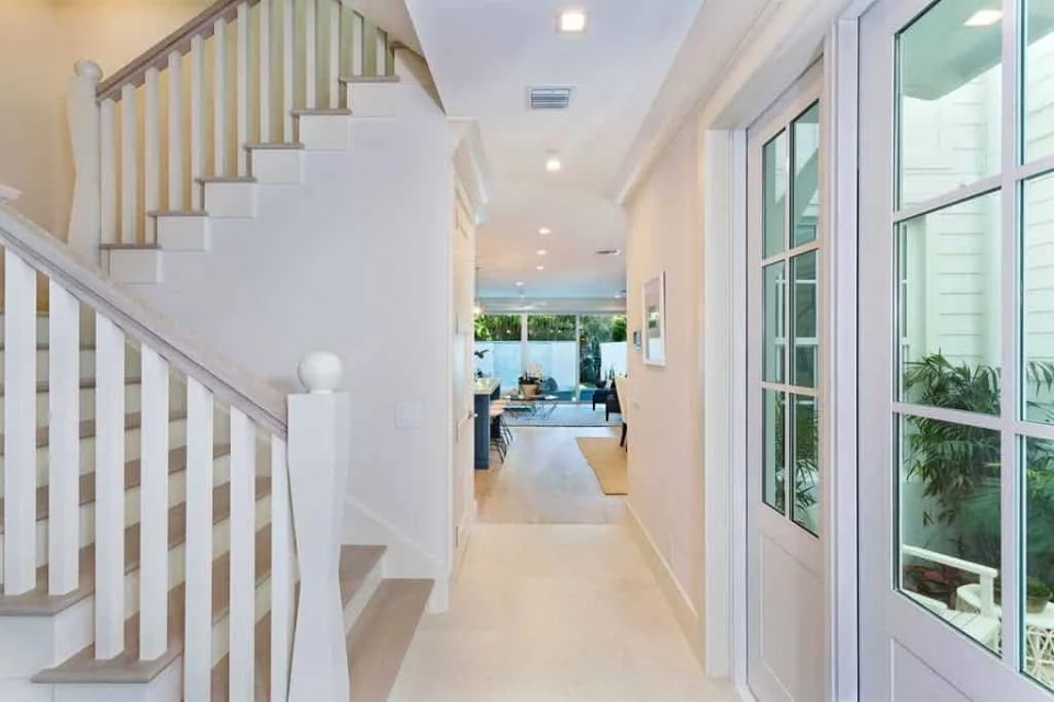 Island Contemporary - Beach House Tour - Beach House Coastal Decor Ideas - Air Bnb in Delray Beach Florida - Hallway
