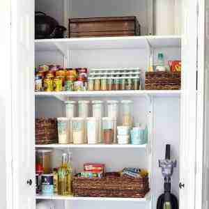 Organized Small Pantry