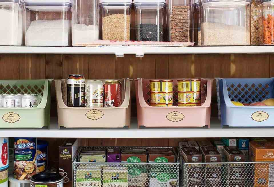 Organize Your Small Pantry For Cheap - Storage Bins
