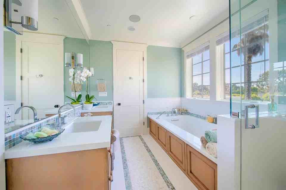 Blue Coastal Dream | Beach House Decor Ideas | Seafoam green bathroom