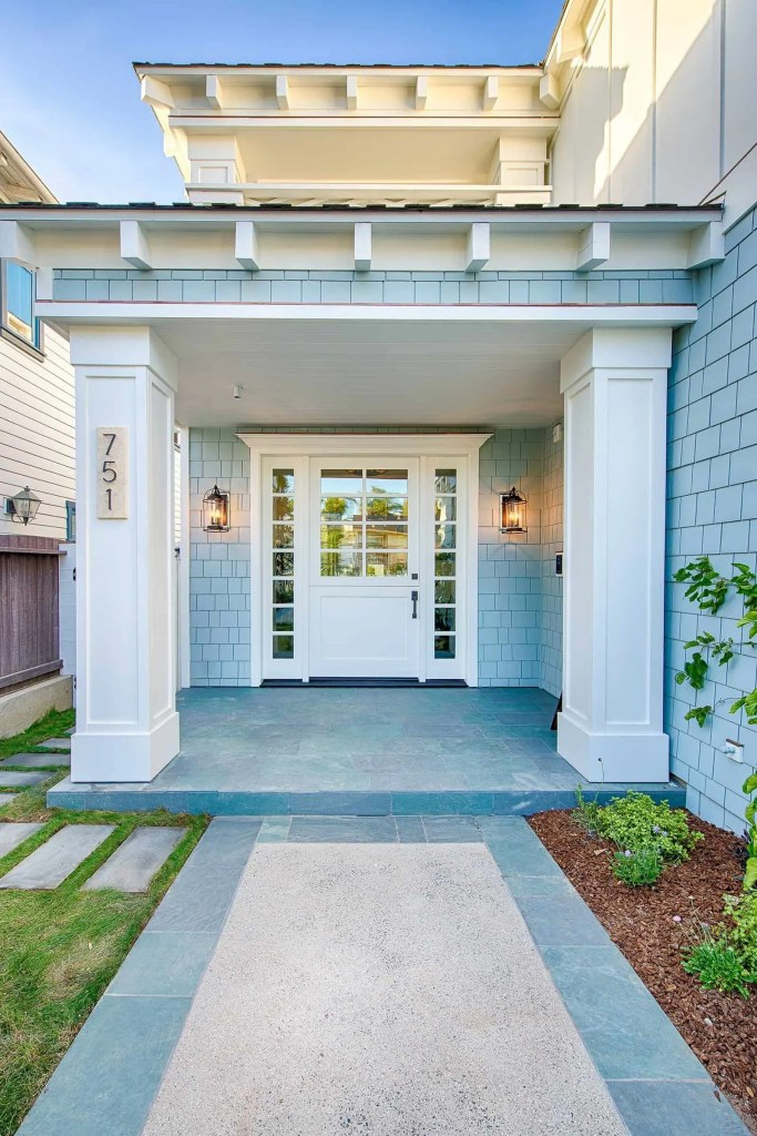 Blue Coastal Dream | Beach House Decor Ideas | Exterior white front door
