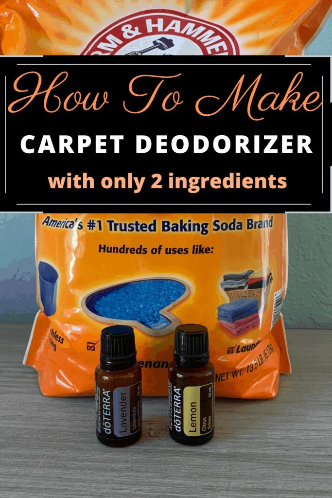 How To Make Carpet Deodorizer With Only 2 Ingredients - Baking Soda and Essential Oils - DIY Cleaning Ideas To Make At Home