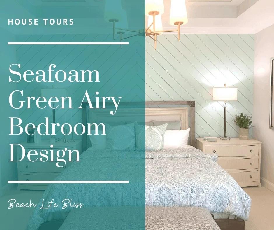 Seafoam Green Airy Bedroom Design Beach Houses