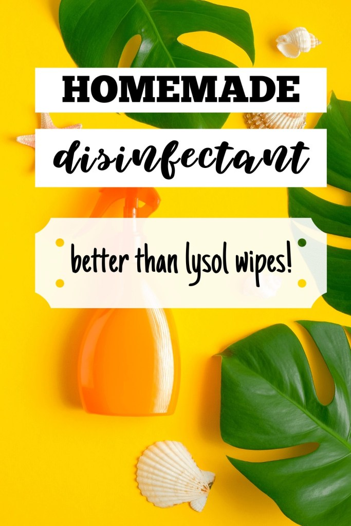Homemade Disinfectant Better Than Lysol - DIY Cleaning Recipes