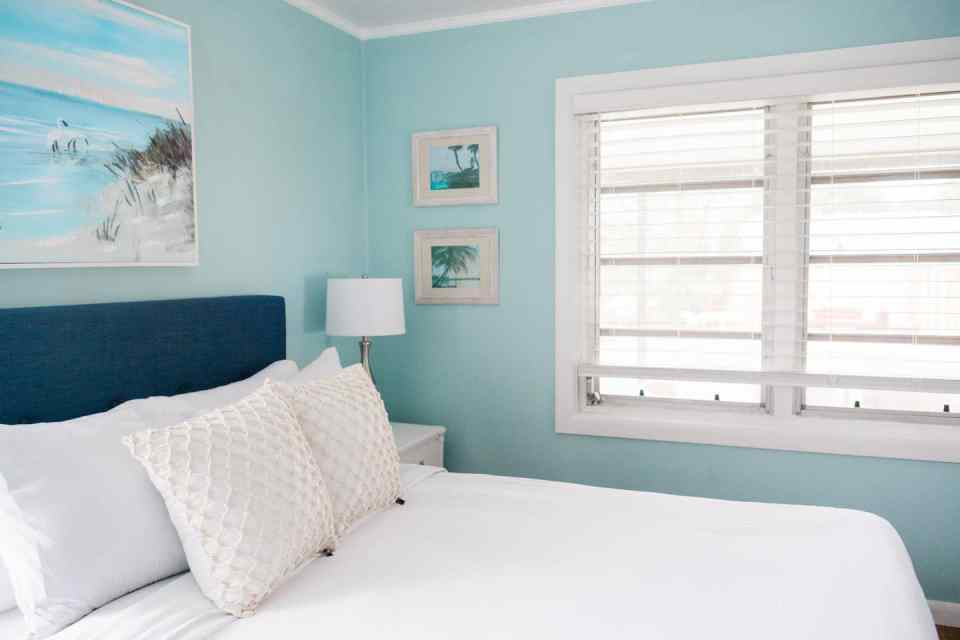 Turtle Ocean Bedroom - Beach Life Bungalow Bedroom After  Photo - Coastal Vibrant Transformation - AirBnb Makeover