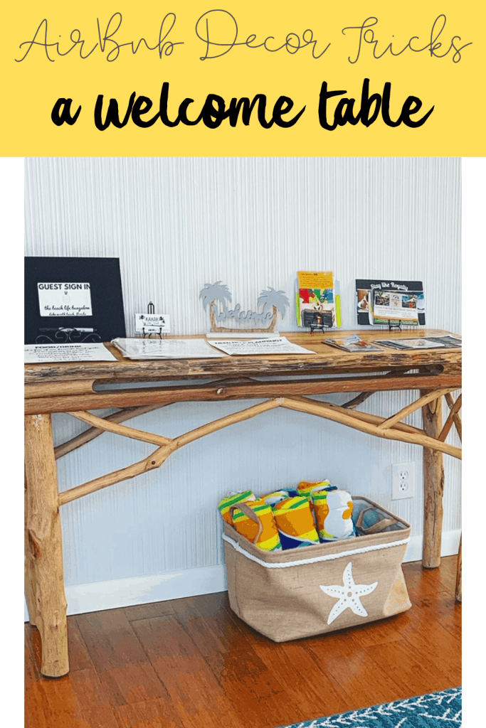 AirBnb Welcome Table - 9+ Attractive Decor Tricks To Make Your AirBnb Stand Out