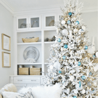 23+ Amazing White And Blue Coastal Christmas Tree Ideas