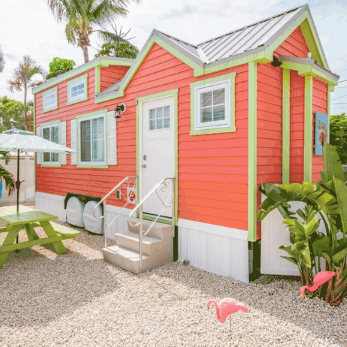 Bright Orange Tiny House in Florida
