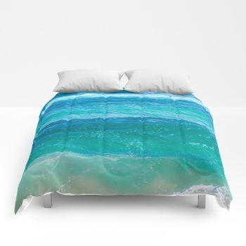 Turquoise Ocean Water Comforter Sea Bedding Beach