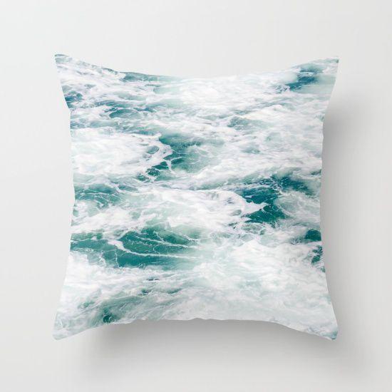 deep ocean water throw pillow cover sea cotton surf coastal decorative pillow case ocean bedding 5 sizes