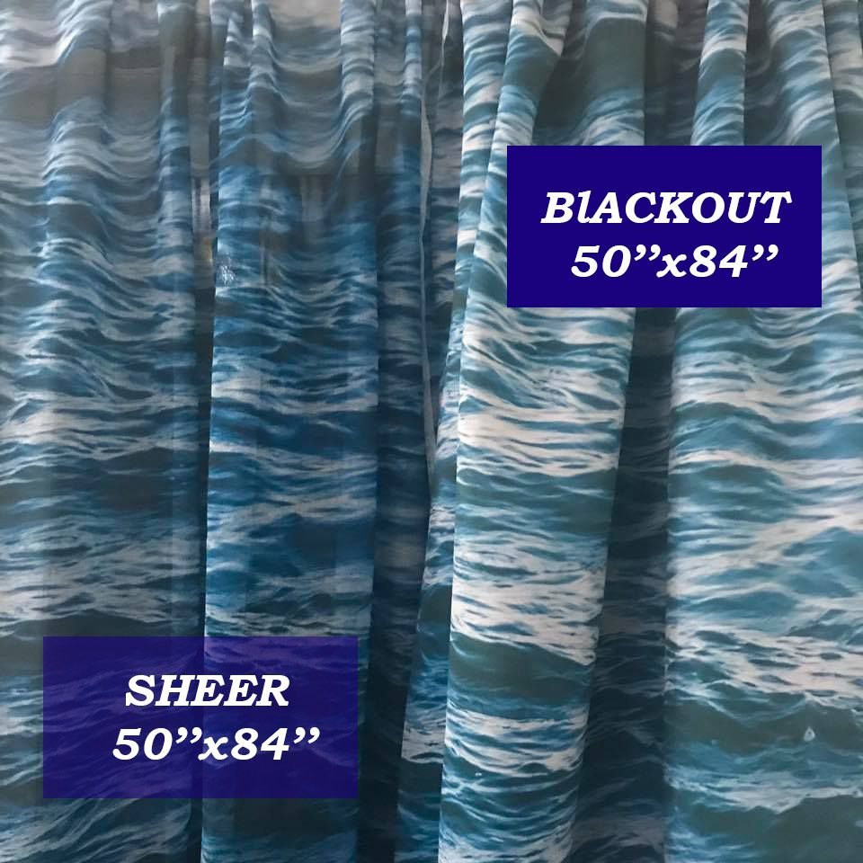 High Palm Window Curtain Blackout Curtain Sheer Curtain Nautical Curtain Beach Curtain